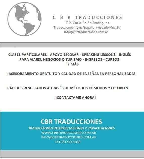 Clases de Inglés en Tucumán Apoyo Escolar, Ingresos, Exámenes internacionales, Conversación y Cursos