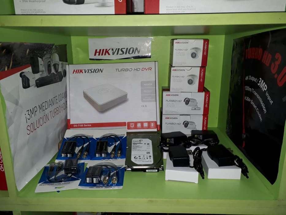 Kit de camaras de seguridad Turbo HD Hikvisión y dahua CCTV se acepta visa mastercard etc