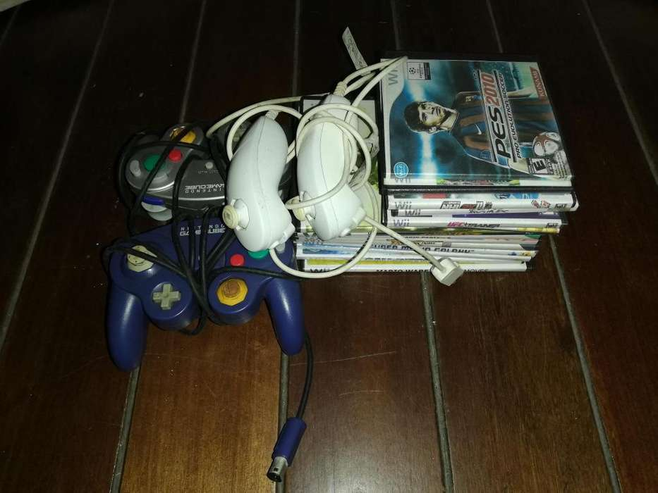 Nintendo Wii 2 Controles Gc 2 Nunchuk 27 Juegos