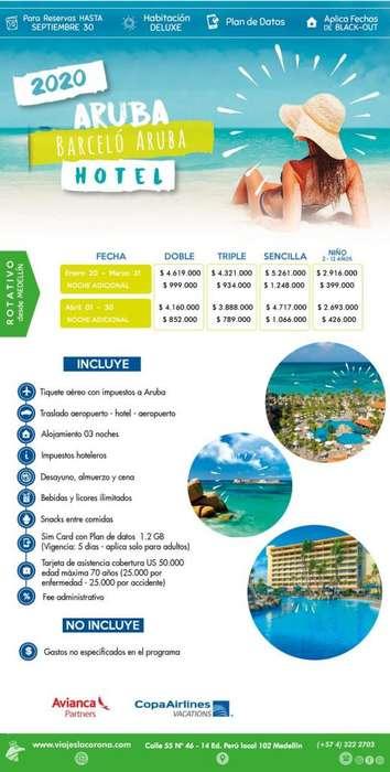 Viaje a Aruba 2020 con Viajes la Corona H. BARCELÓ ARUBA
