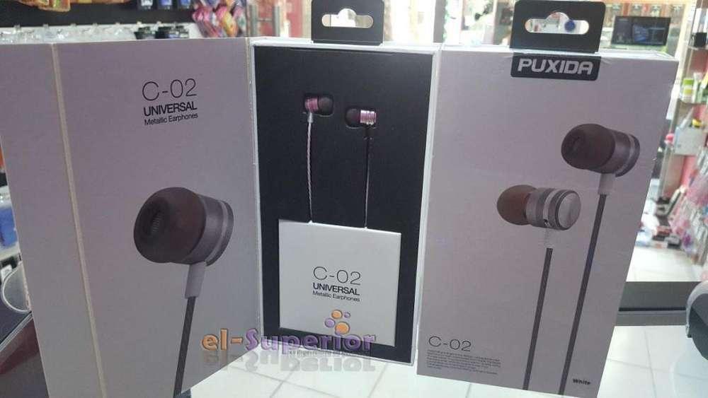 Auricular Reforzado Metalico Manos Libres In Ear Puxida Obelisco