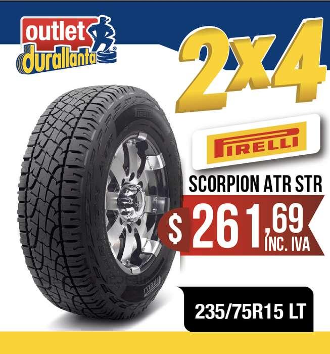 <strong>llantas</strong> 235/75R15 LT PIRELLI SCORPION ATR STREET LUV D-MAX BT-50 KORANDO A230 Montero Sport 4WD KORANDO A200XDI 4X2 MT