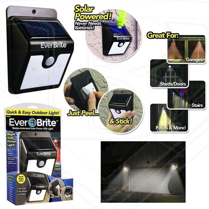 Lampara Exterior Energia Solar Sensor Movimiento Ever Brite nueva 3138152836