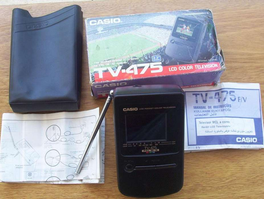 <strong>televisor</strong> Portatil TV Color Casio Modelo 475 LCD Color 2,2 Pulgadas Nuevo Caja Manual