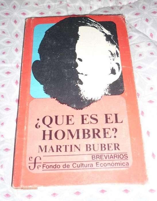 Que Es El Hombre . Martin Buber . Libro Filosofia Breviarios