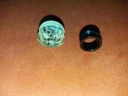 Expansores de buena calidad titanio negro y acrilico color neon