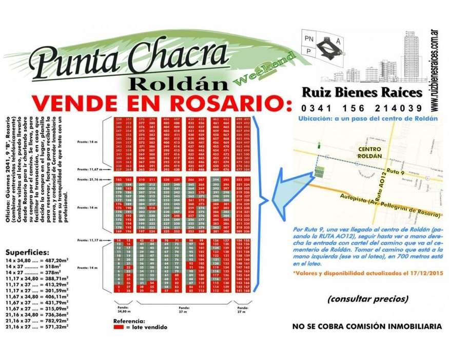 Roldán, barrio Punta Chacra, ahora escritura inmediata, agua, luz, gas, cloacas
