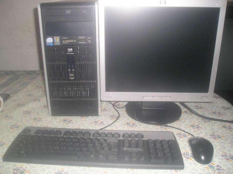 Computadora Hp Core 2 Duo Con Monitor Lcd17 Todo Original!!!