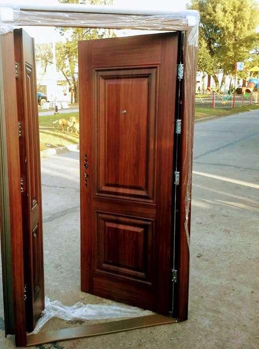 blindada.puerta y media tipo pentagono con tableros.modelo premium.derecha e izquierda