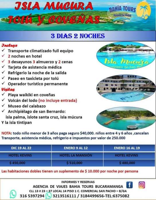 Tour Tolu Coveñas Salidas Enero Y Diciem