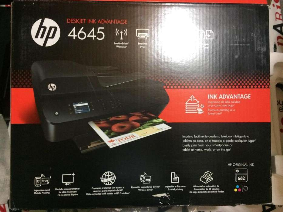 Impresora Wifi Hp Deskjet Ink Advantage 4645