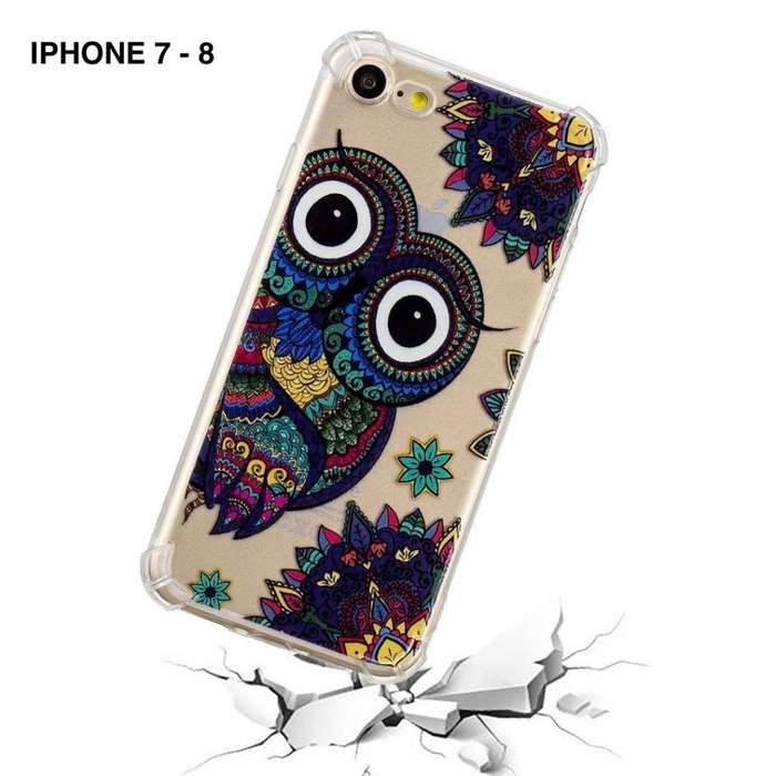 6b05b4d6e34 FUNDA COVER CASE TRANSPARENTE DISEÑOS IPHONE 7-8 IPHONE 7-8 PLUS