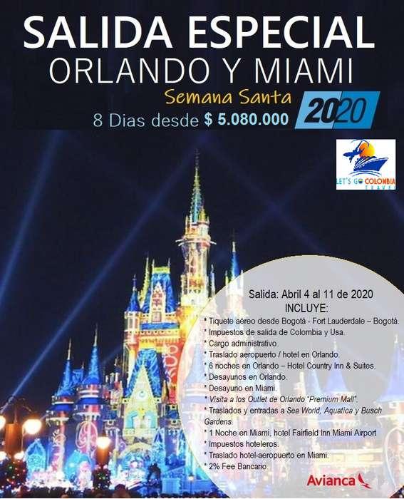 Salida Especial Orlando y Miami