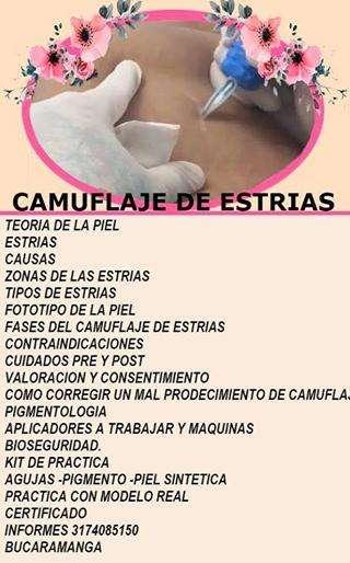 CURSO PERSONALIZADO DE CAMUFLAJE DE ESTRIAS BUCARAMANGA