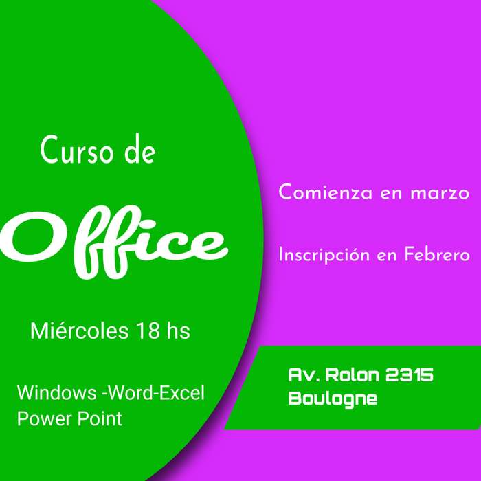 CURSO DE OFFICE CON SALIDA LABORAL