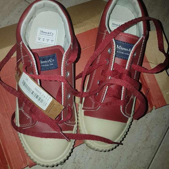 Zapatillas 36 Horma Chica