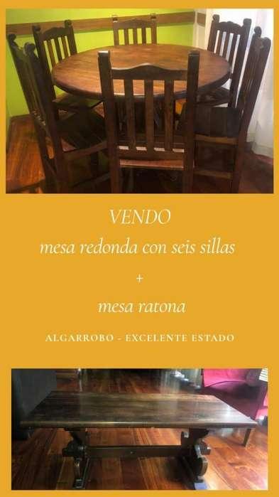 Vendo Mesa Y <strong>sillas</strong> de Algarrobo
