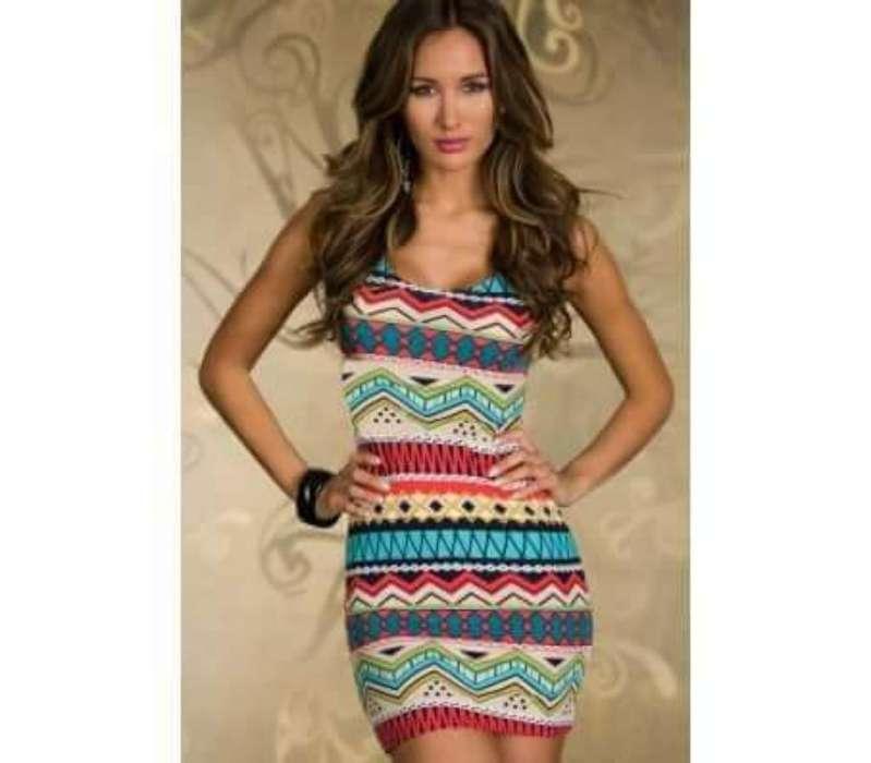 Vestido Azteca Colores Mujer