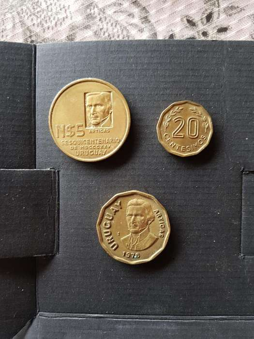 Lote Monedas Antiguas Uruguay Y Brasil