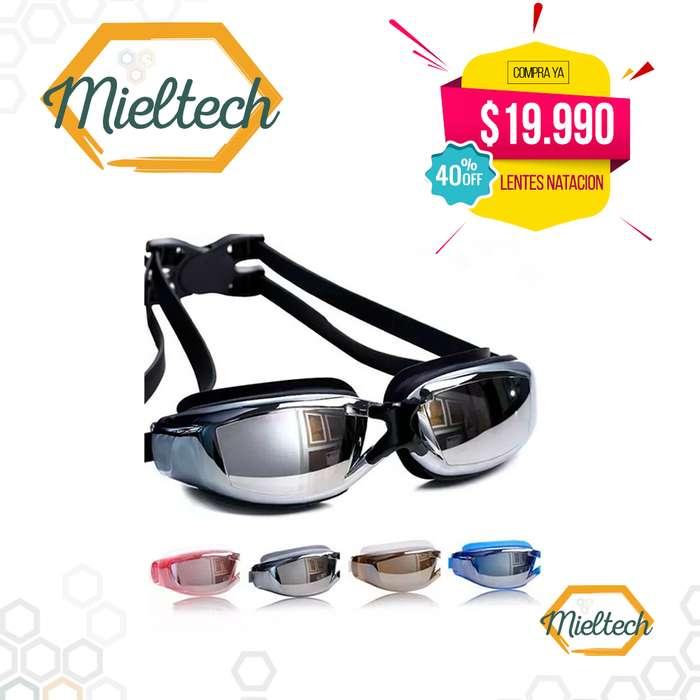 Gafas lentes de Natación Espejo Antiniebla con Filtro Uv Piscina
