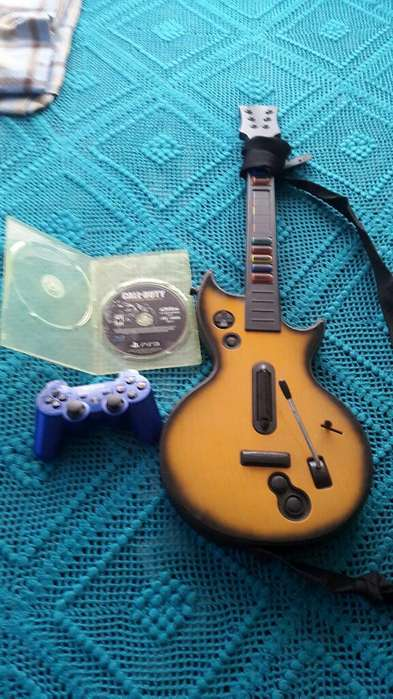 Palanca, Juego Y Guitarra para Ps3