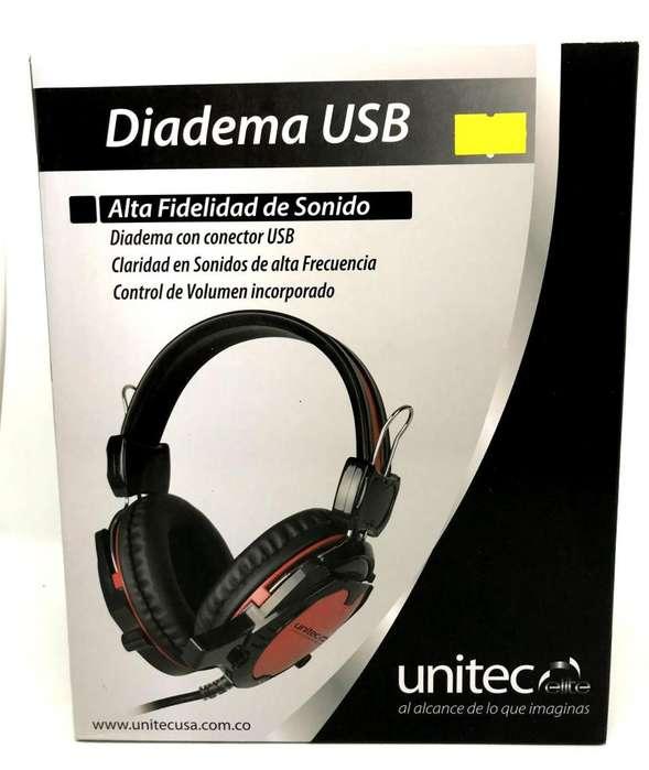 Diadema Gamer Unitec alta gama Conexión USB