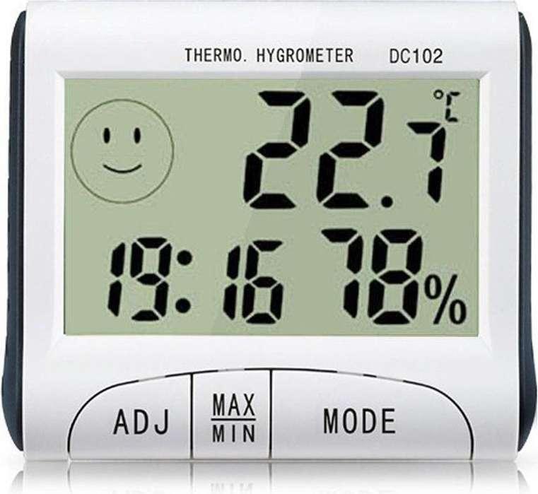 Termómetro Hygrometer humedad temperatura y hora