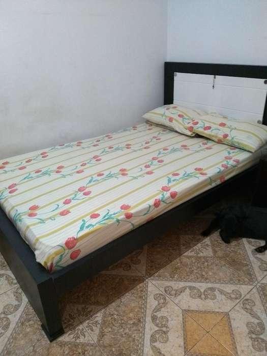 Vendo Cama Madera 1.20x1.80con Tabla