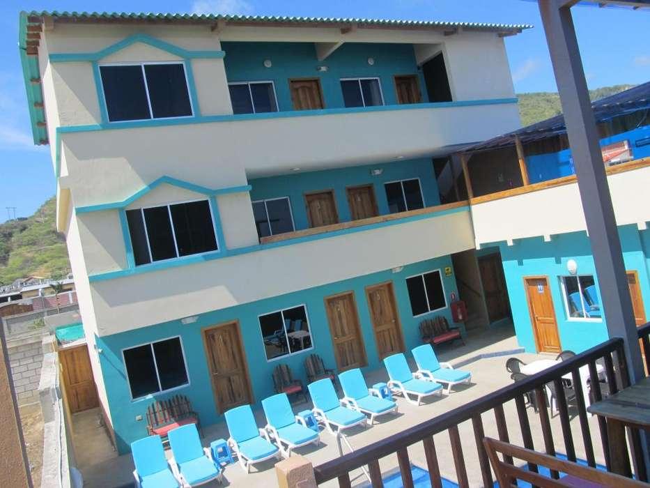 Perfecta inversión de hotel de 16 habitaciones frente al mar con casa de dos pisos adjunta.