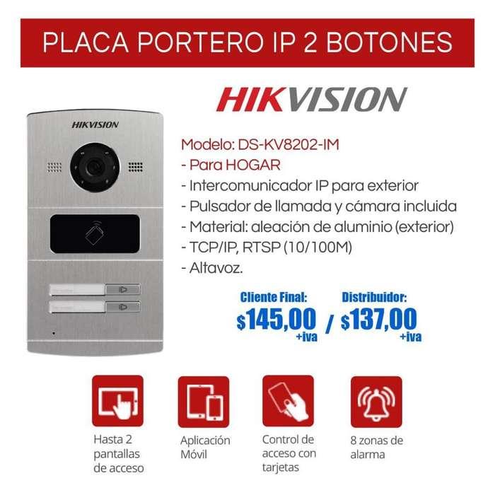 <strong>video</strong> portero ip para el hogar de un boton. dos botones.4botones.para edificios.pantalla touch hikvision