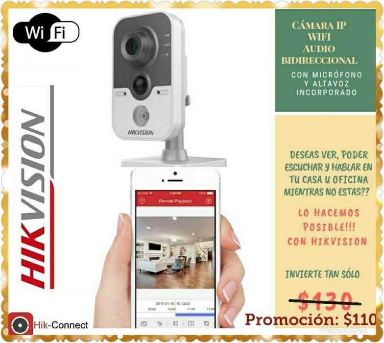 Cámara Hikvision Wifi Audio Doble Via