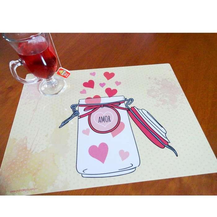 6 individuales para comedor Love Amor