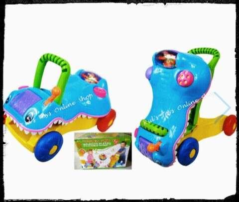 crocodile princes walker Buggy dos en 1 andador y carrito montable