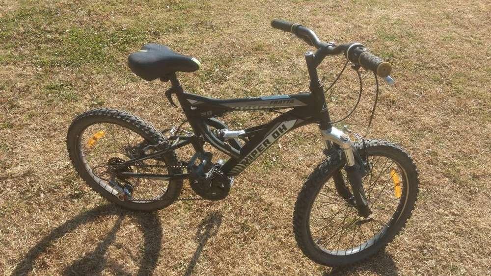 Bicicleta Mtb Varon Rod 20 Doble Suspension