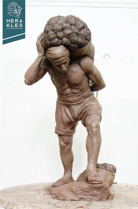 Esculturas,bustos en fibra de vidrio,mármol reconstituido y bronce