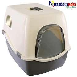 Arenera tipo casa o iglu gatos grandes y gordos incluye pala y puerta
