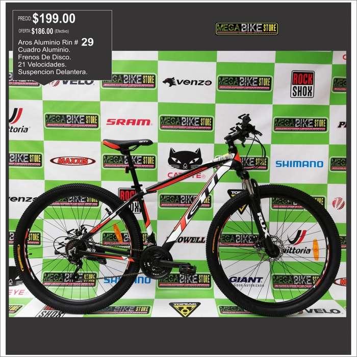 OFERTAAA DE <strong>bicicleta</strong> 29 TODOTERRENO ,ALUMINIO, SHIMANO, FRENOS DE DISCO, 21 CAMBIOS, NROJO