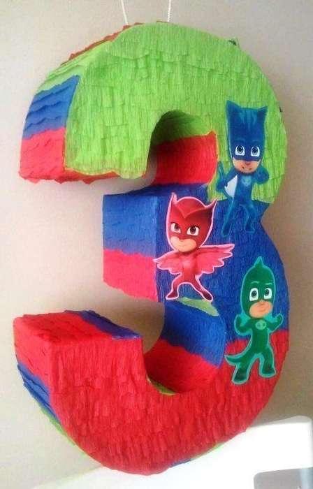Numeros 3D Heroes en Pijamas Y Otros Dsd