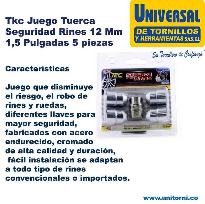 JGO TUERCAS SEGURIDAD 12 MM 1,5 PULGADAS *NUEVO*