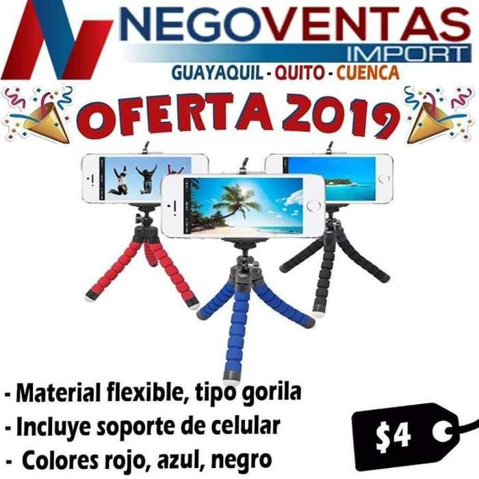 TRÍPODE FLEXIBLE PARA CELULARES OFERTA 4,00