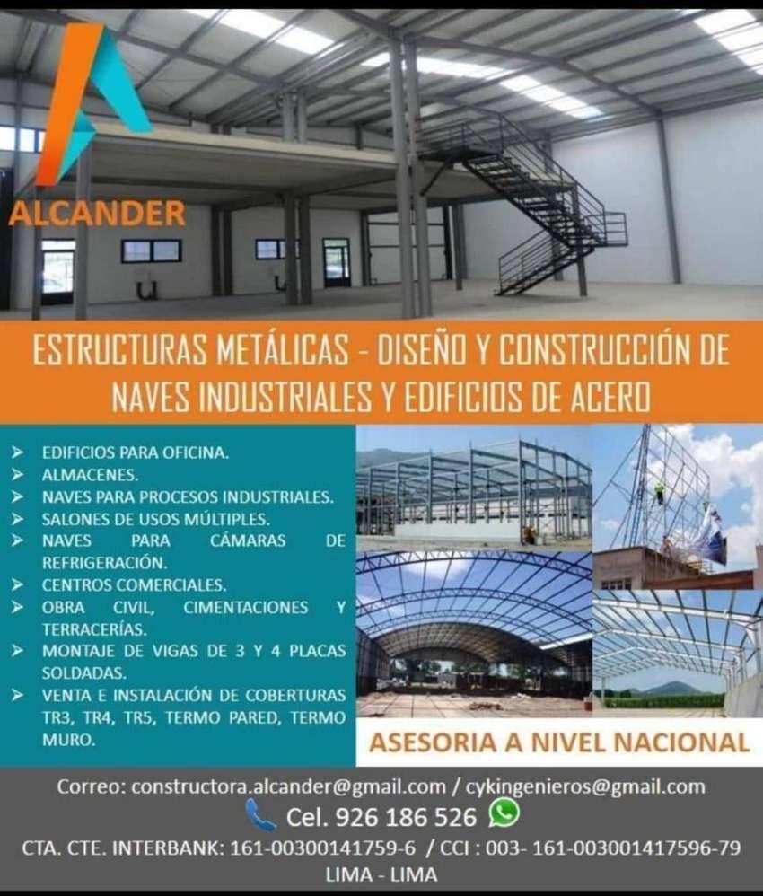 Estructura Metálica Techo Canopy Para Grifos Naves