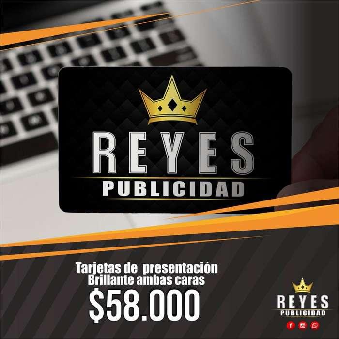 IMPRESION DE TARJETAS DE PRESENTACION PROPALCOTE BRILLANTE FULL COLOR LITOGRAFIA PAPELERIA COMERCIAL CALI PUBLICIDAD