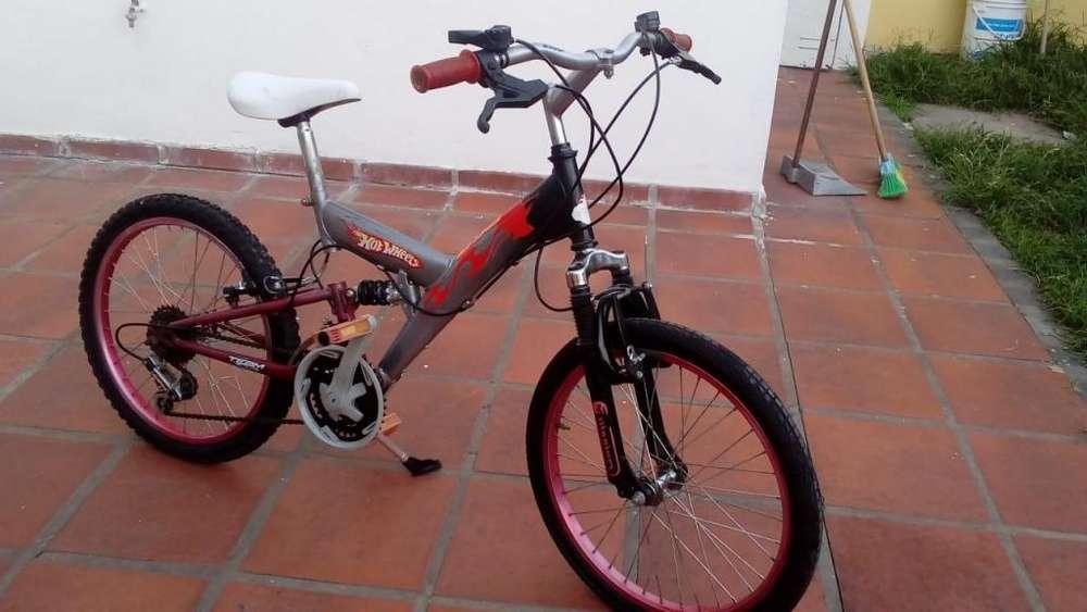 bicicleta hotwheels para chicos