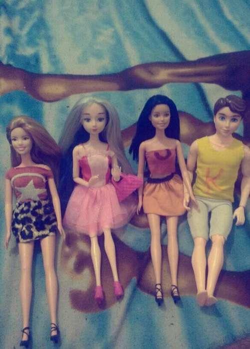 muñecas poco uso barbie ken y japonessa