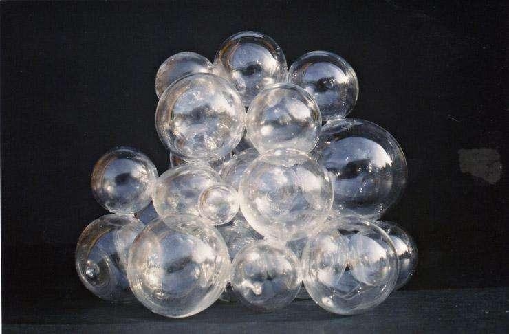 esferas en vidrio soplado
