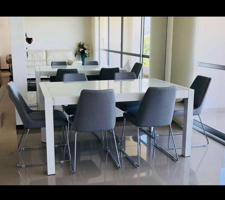 Buffet Comedor con Sus Sillas <strong>escritorio</strong>