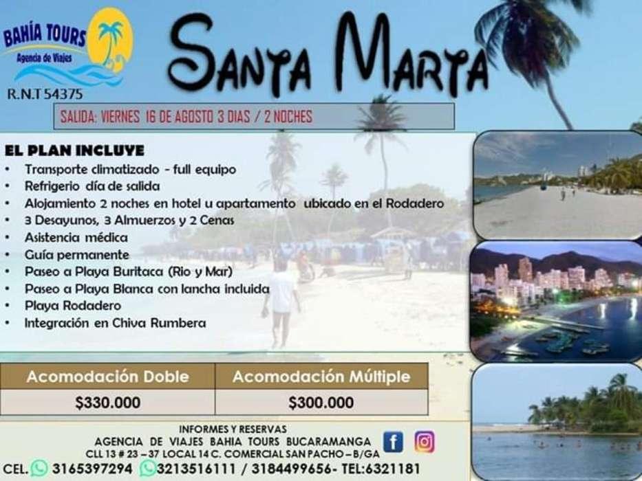Tour Santa Marta O Cartagena 16 Agosto