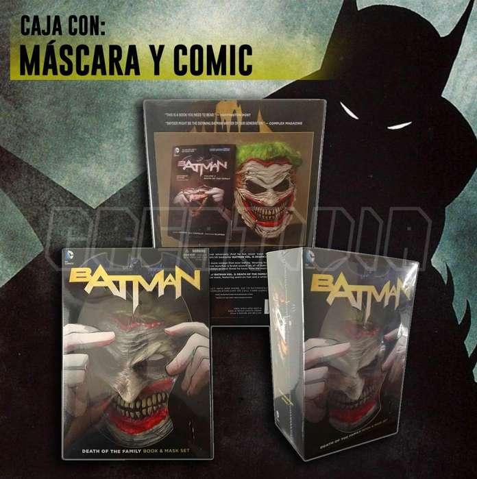 ULTIMAS UNIDADES! Comic Batman: Death Of The Family Book And Joker Mask Set inglés