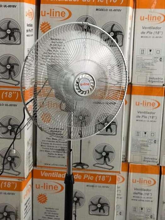 Ventilador 18 pulgadas - Motor 105 Watts ! 3 en 1 ( pie, mesa y pared)