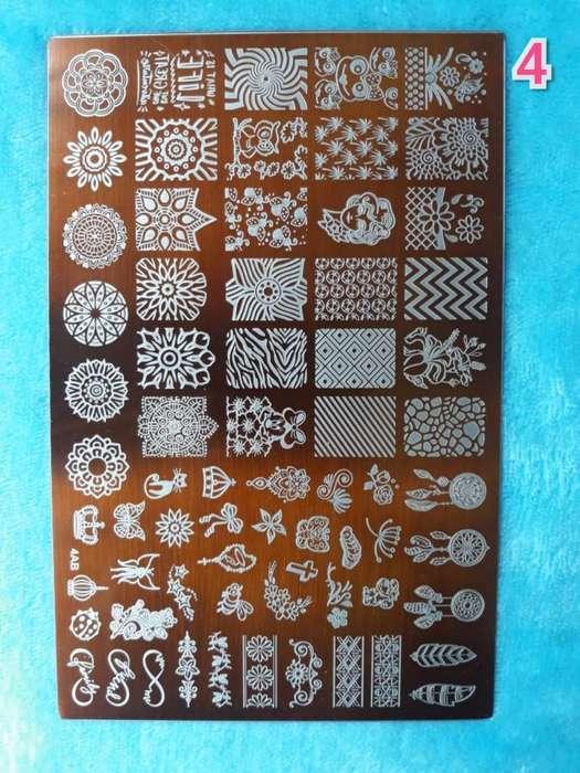 Sello Lupa Y Láminas Decorativas
